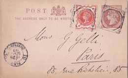 Entier  Postal Stationery - Great Britain - Pub Au Dos / Publicity Peckham Store Signs - 1899 - Stamped Stationery, Airletters & Aerogrammes