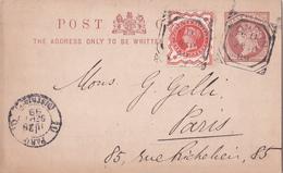Entier  Postal Stationery - Great Britain - Pub Au Dos / Publicity Peckham Store Signs - 1899 - Entiers Postaux