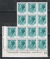 REPUBBL.  VARIETA': 1968 TURRITA  ST. IV°  FL. + ARABICA  -  £. 70  VERDE  SCURO  BL. 14  N. -  C.E.I. 1095 - 6. 1946-.. Repubblica