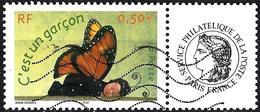 """France 2004 - Butterfly """" It's A Boy"""" + Label Cérès ( Mi 3779 - YT 3635A ) - France"""