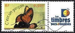 """France 2004 - Butterfly """" It's A Boy """" + Label  ( Mi 3779 - YT 3635A ) - France"""