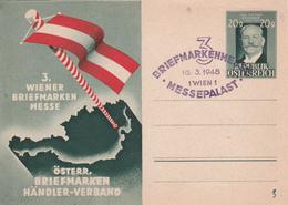 Entier  Postal Stationery/ Wiener Briefmarken Messe - Österreich  - 1948 - Entiers Postaux