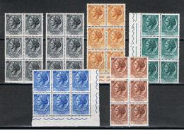 REPUBBL.  VARIETA': 1955/58 TURRITA  ST. II°  -  36  VAL. N. -  C.E.I. 764//777 - 6. 1946-.. Repubblica