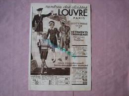 """Le Louvre Catalogue 1932 """"Rentrée Des Classes""""  Tout Pour La Rentrée Et Le Pensionnat  TBE - Textile & Clothing"""