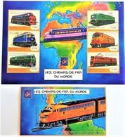 Guinee 2001**Mi.3139-44 + Bl.654  Trains , MNH [17II;32] - Treinen