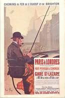 -ref-B107- Royaume Uni - Londres - London - Chemins De Fer De L Ouest Et De Brighton - Railway - Illustrateur René Pian - London
