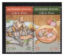 2018 MÉXICO GASTRONOMÍA MEXICANA - CALDO DE PIEDRA, MNH OAXACAN STONE SOUP PREHISPANIC FOOD STAMP SET MNH - México