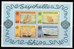 SEYCHELLES - BLOC N°16 ** (1981)  Bateaux - Seychelles (1976-...)