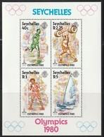 SEYCHELLES - BLOC N°14 ** (1980)  J.O MOSCOU - Seychelles (1976-...)