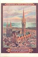 -ref-B102- Finistere - Bretagne  Normandie  Ile De Jersey - Affiche Chemins De Fer De L Ouest -illustrateur H. Toussaint - France