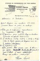 Facture 1/2 Format 1950 / 50 SAINT QUENTIN DUR LE HOMME / F. FLEURY / Charronnage En Tous Genres - France
