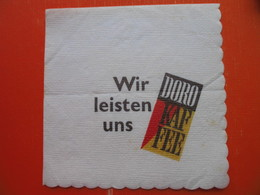 Paper Napkin.DORO KAFFEE - Reclameservetten