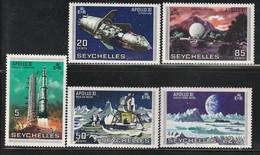 SEYCHELLES - N°247/51 ** (1969)  Espace - APOLLON XI - Seychelles (1976-...)