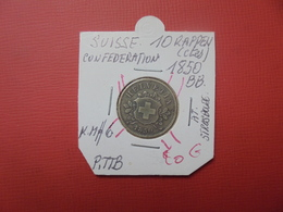 """SUISSE 10 RAPPEN 1850 """"BB"""" - Suisse"""