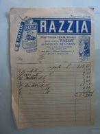 """Foglio Ricevuta """"RAZZIA INSETTICIDA SENZA RIVALI Società Anonima RAZZIA Milano""""  1934 - Advertising"""