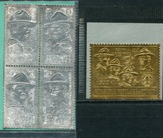 1971-CONGO-SCOUTS- GOLD & SILVER STAMPS - M.N.H.- LUXE !! - Neufs