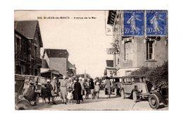 CPA 85 - St Jean De Monts Avenue De La Mer , Beau Plan Animé Auomobiles Terrasse Café - Saint Jean De Monts