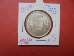 SUISSE 5 FRANCS 1954 ARGENT - Suisse