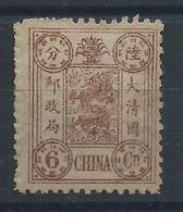 1894 CHINA DOWAGER 6 Candarin MINT H PART OG SCV $190 - Chine
