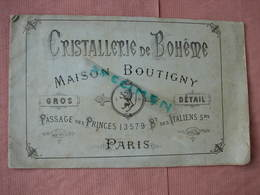 CRITALLERIE De BOHEME  Ets. Boutigny Paris Catalogue 24 Pages 17X27 Dessins Et Prix. BE D'usage - Verre & Cristal