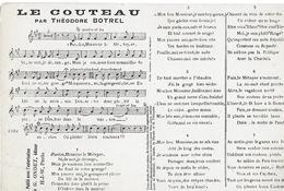 Autres Chanson, Le Couteau Par Théodore Botrel, Avec Paroles Et Musique. - Altri
