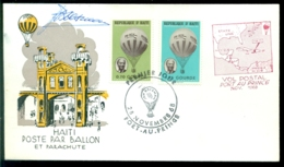 Haiti 1968 Ballonpost Handtekening J. Boesman - Haïti