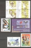 ITALY,AUSTRALIA,INDIA,ARMENIA  Sport(tennis,soccer,cycling) Set 7 Stamps+S/Sheet  MNH - Francobolli