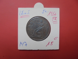 "Léopold 1er. 5 Centimes 1856 FR ""PRESTATION DE SERMENT"" MORIN N°M/7 - 1831-1865: Léopold I"