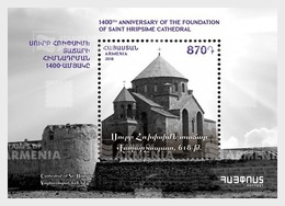 Armenië / Armenia - Postfris / MNH - Sheet 1450 Jaar Hripsime Kathedraal 2018 - Armenië