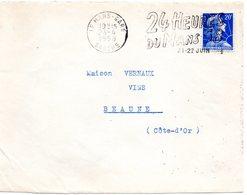 COURSE AUTOMOBILE = 72 LE MANS GARE 1958 = FLAMME Sur DEVANT D' ENVELOPPE = SECAP Illustrée ' 24 HEURES  ' - Postmark Collection (Covers)