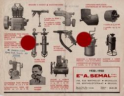 FOREST BRUXELLES SEMAL RUE BERTHELOT Vers 1945 / 50 - Publicités