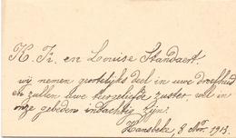 Visitekaartje - Carte Visite - K. Fr. & Louise Standaert - Hansbeke 1913 - Cartes De Visite