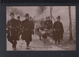 CP Belgian Soldiers With War Dogs - Weltkrieg 1914-18