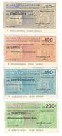 Italy Miniassegni / Emergency Check - Set Serie Banca Popolare Di Milano - [10] Cheques En Mini-cheques