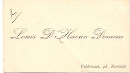 Visitekaartje - Carte Visite - Louis D'Haene - Deman - Kortrijk - Cartes De Visite