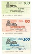Italy Miniassegni / Emergency Check - Set Serie Banco Lariano - [10] Checks And Mini-checks