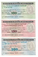 Italy Miniassegni / Emergency Check - Set Serie Banca San Paolo Brescia - [10] Cheques En Mini-cheques