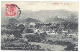 Cpa Jamaïque / Greeting From Jamaica - Constant Spring Hotel, Showing Blue Mountain - Jamaïque