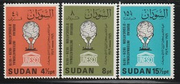 SOUDAN - N°317/9 ** (1980)  UNESCO - B.I.E - Soudan (1954-...)