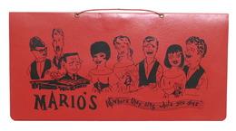 Collezionismo Menu Ristorante Mario's - Palm Springs - Denver - U.S.A. 1970 Ca. - Menu