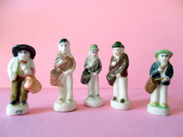 Fèves Brillantes Anciennes - Les Tambourinaires - Lot De 5 - Olds