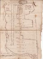 Gen Auch Et Pau 18 Avril 1730 Arpentage Et Plan Figuratif Des Bois Appartenant à La Communauté D'Encausse  4 Scans - Cachets Généralité