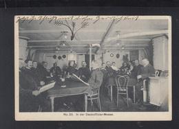 Dt. Reich AK Deckoffizier-Messe Marine Schiffspost - Personen