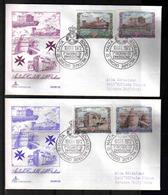 Malta Order SMOM  10 OTT 1972 Castles FDC Set Of 2  ** - Malte (Ordre De)