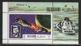 RAS AL KHAIMA - BLOC  ** (1969)  J.F.Kennedy / Apollo X- ESPACE - Space