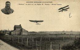 DICKSON, SUR BIPLAN H. FARMAN - Aviones
