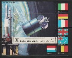 RAS AL KHAIMA - BLOC  ** (1970)  Fusée EUROPA 1 DIAL- ESPACE - Space