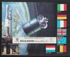 RAS AL KHAIMA - BLOC NON DENTELE ** (1970)  Fusée EUROPA 1 DIAL- ESPACE - Space