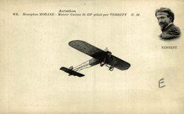 VERREPT. Monoplan MORANE - Aviones