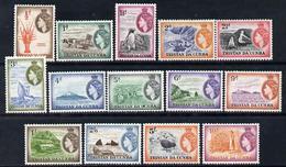 Tristan Da Cunha 1954 Pictorial Definitive Set Complete - 14 Values Unmounted Mint, SG 14-27 - Tristan Da Cunha